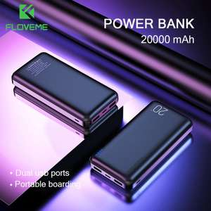 FLOVEME Power Bank 20000 mAh 11.99$