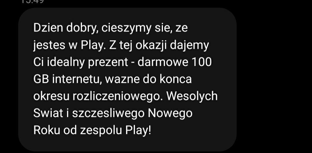 Darmowe 100GB internetu w Play