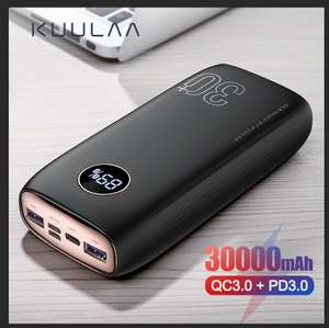 KUULAA Power Bank 30000 mAh 29,4$