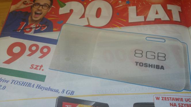 Pendrive Toshiba Hayabusa 8gb usb 2.0 9,99