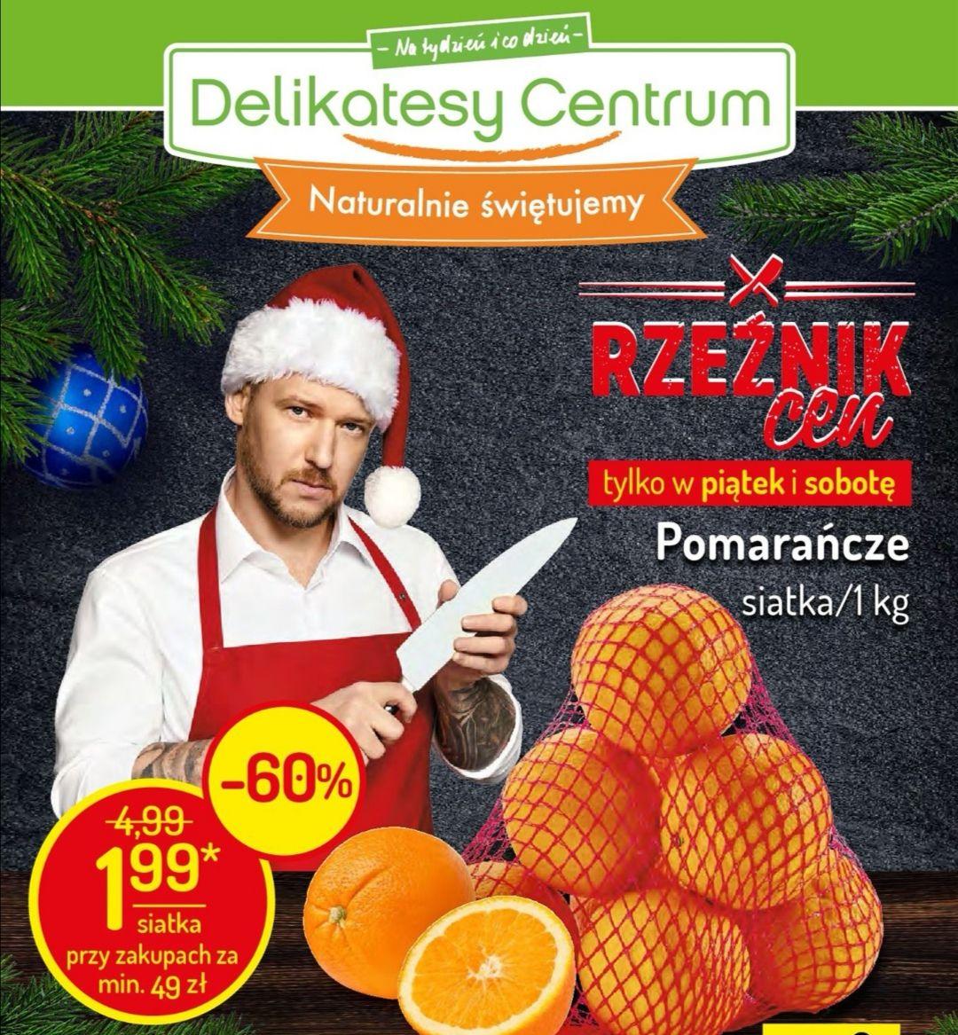 Pomarańcze siatka 1kg za 1.99 przy zakupach za min 49pln Delikatesy centrum