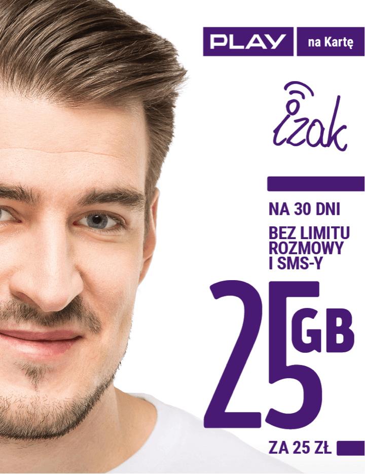Starter Fana PLAY 25 zł No limit i 25 GB za 25 zł