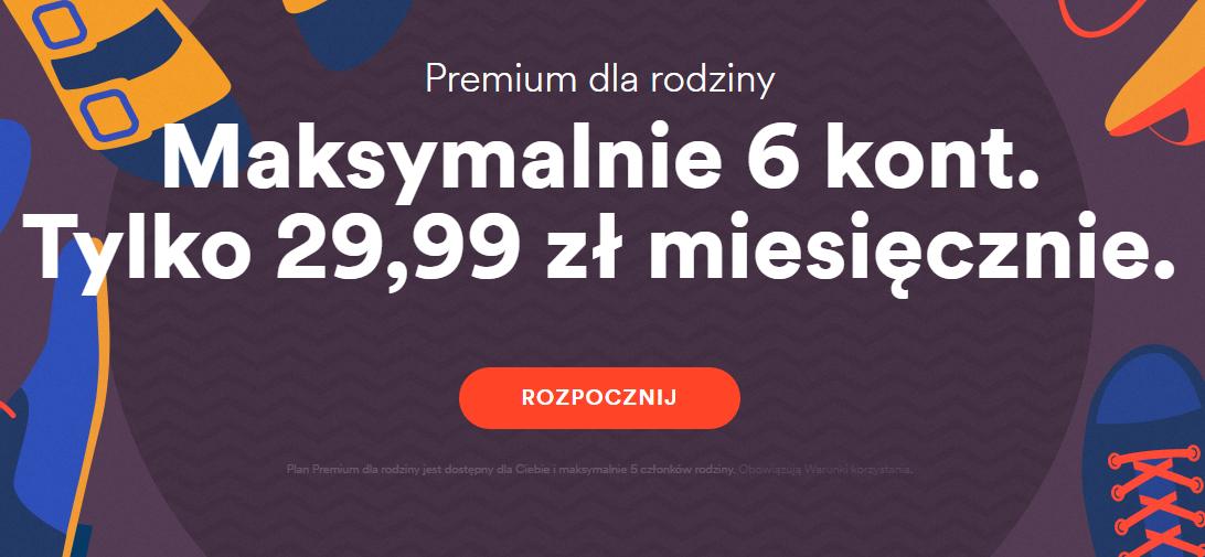 Nowa oferta Family (maksymalnie 6 kont za 29,99zł) @ Spotify