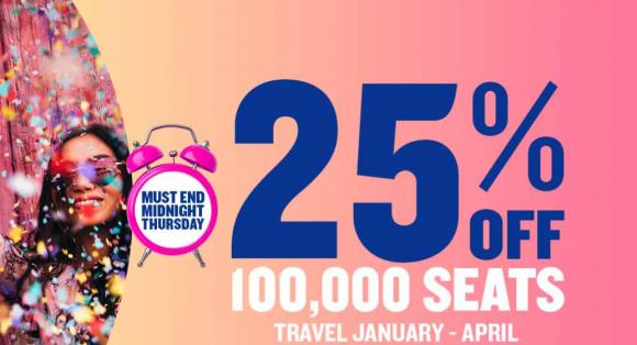 Wyprzedaż Ryanair: 100 000 biletów z 25% zniżką!