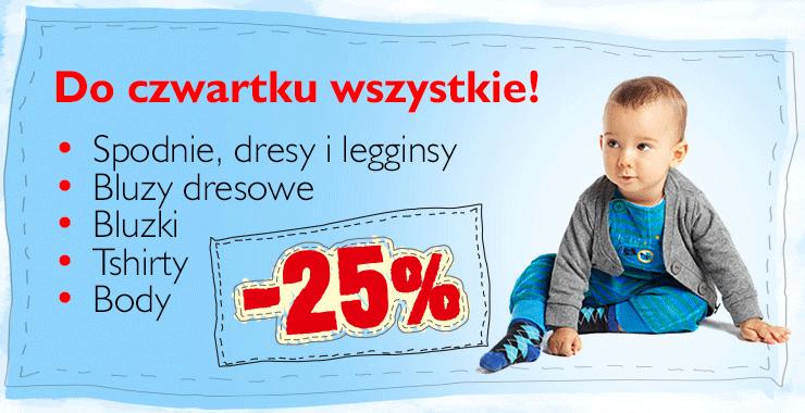 Bluzeczka za 13zł i inne - 25% rabatu na wybrane produkty tylko DO JUTRA @ 5.10.15