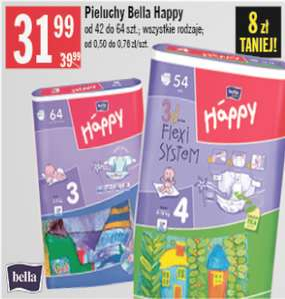 Pieluszki Bella Happy za 31,99zł @ Stokrotka