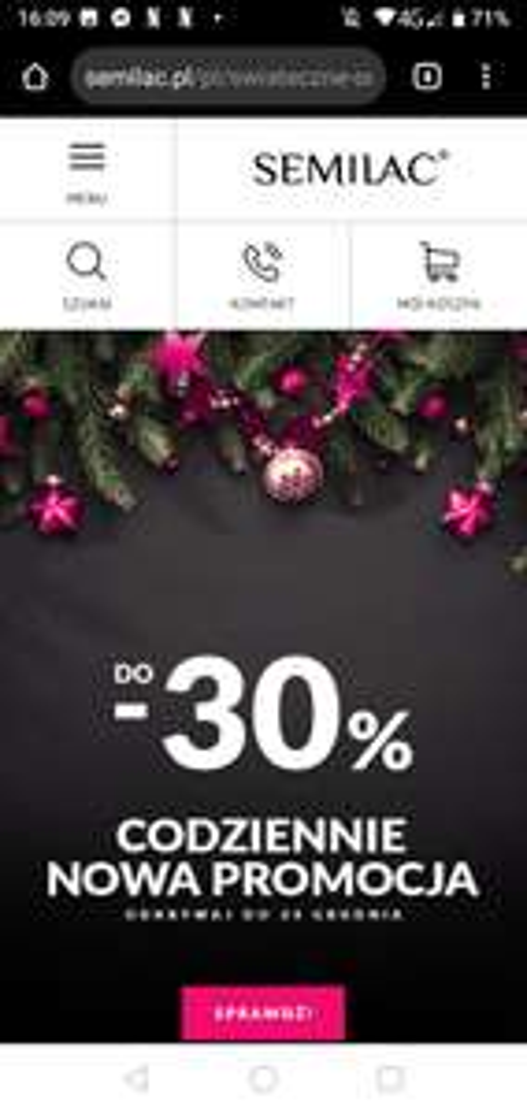 Do -30% na produkty Semilac