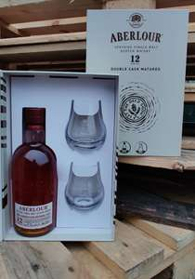SZCZYRBA ALKOHOLE, 119,90 - Aberlour 12 plus szklanki