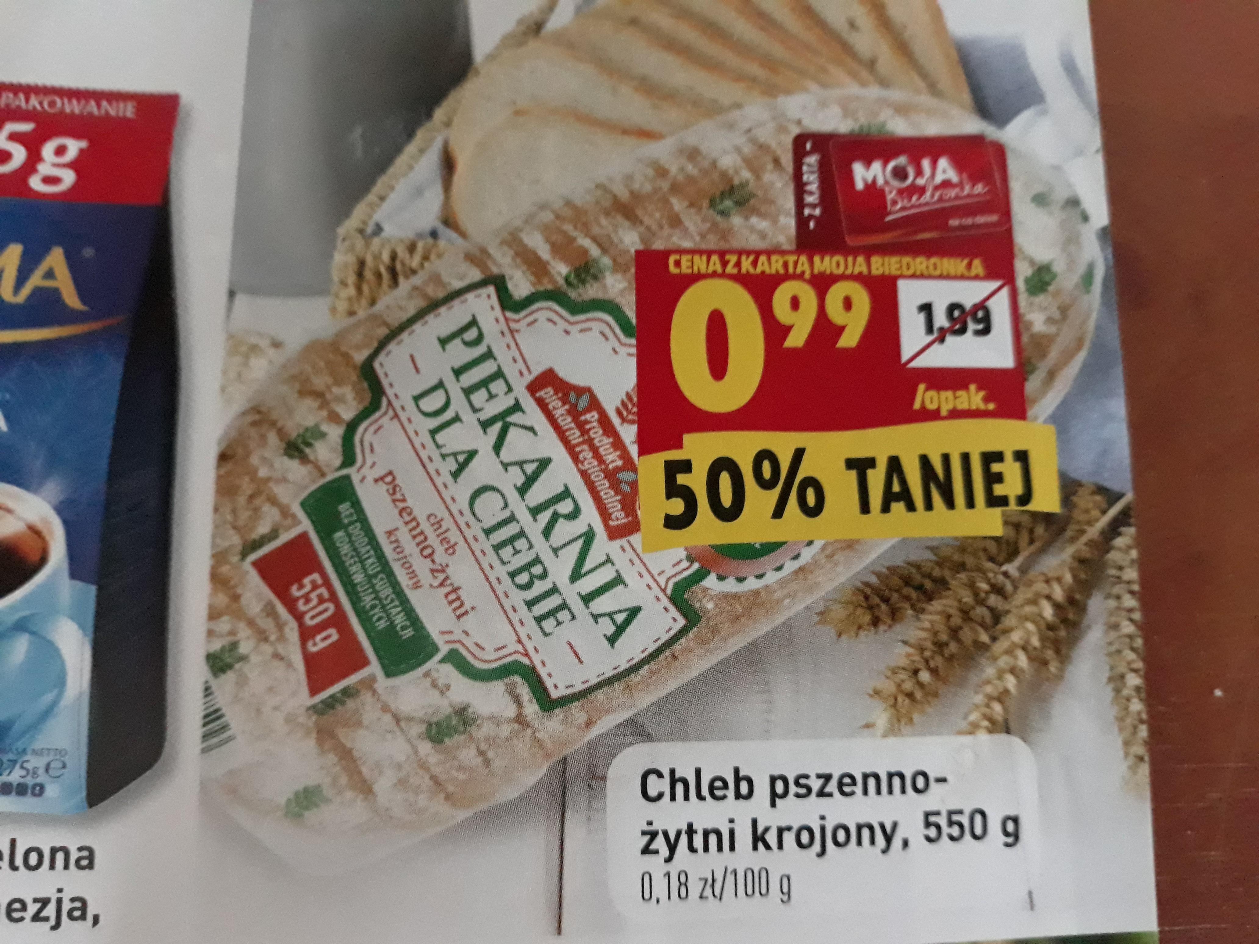 Chleb pszenno-żytni krojony - Biedronka Więcbork
