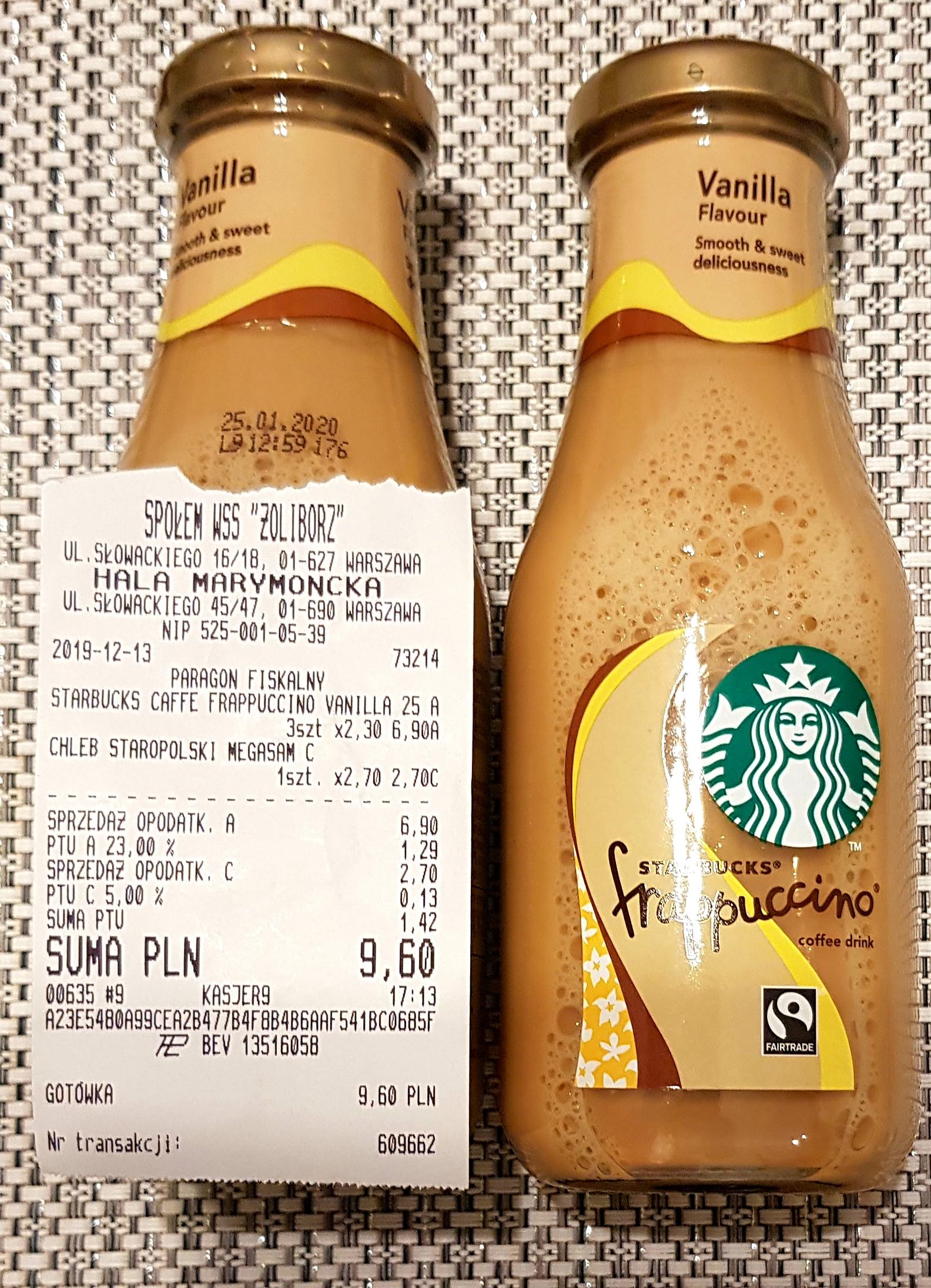 Starbucks frappuccino termin ważności 25.01.20