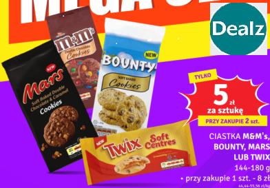 Ciastka M&M's, Bounty, Mars lub Twix 144-180g @Dealz