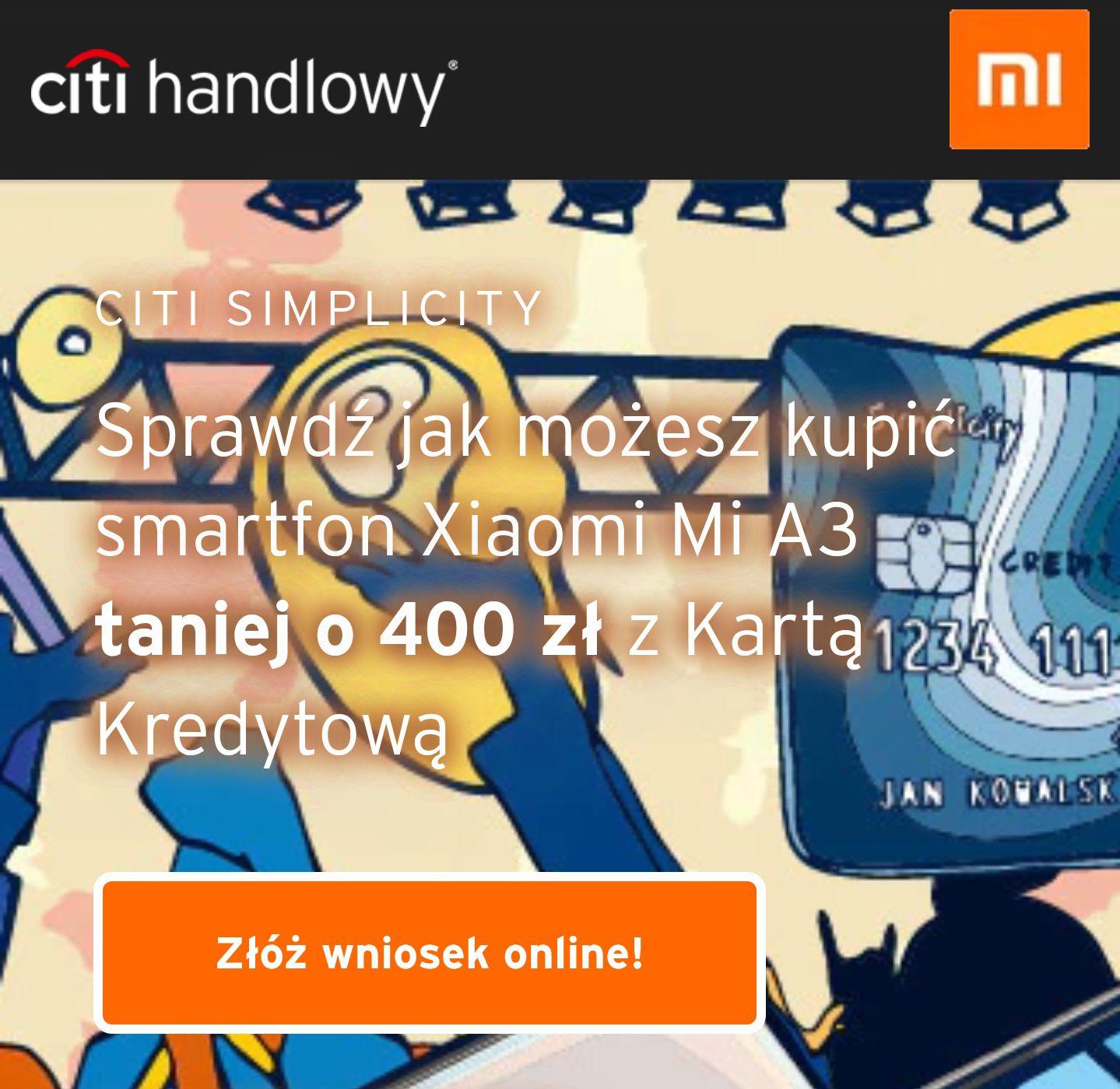400zł zniżki na Mi-home.pl z kodem rabatowym za założenie karty kredytowej Citi Simplicity (Citi Handlowy)