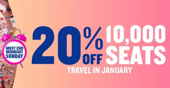 Sprzedaż Ryanair: 10 000 biletów z rabatem do 20%