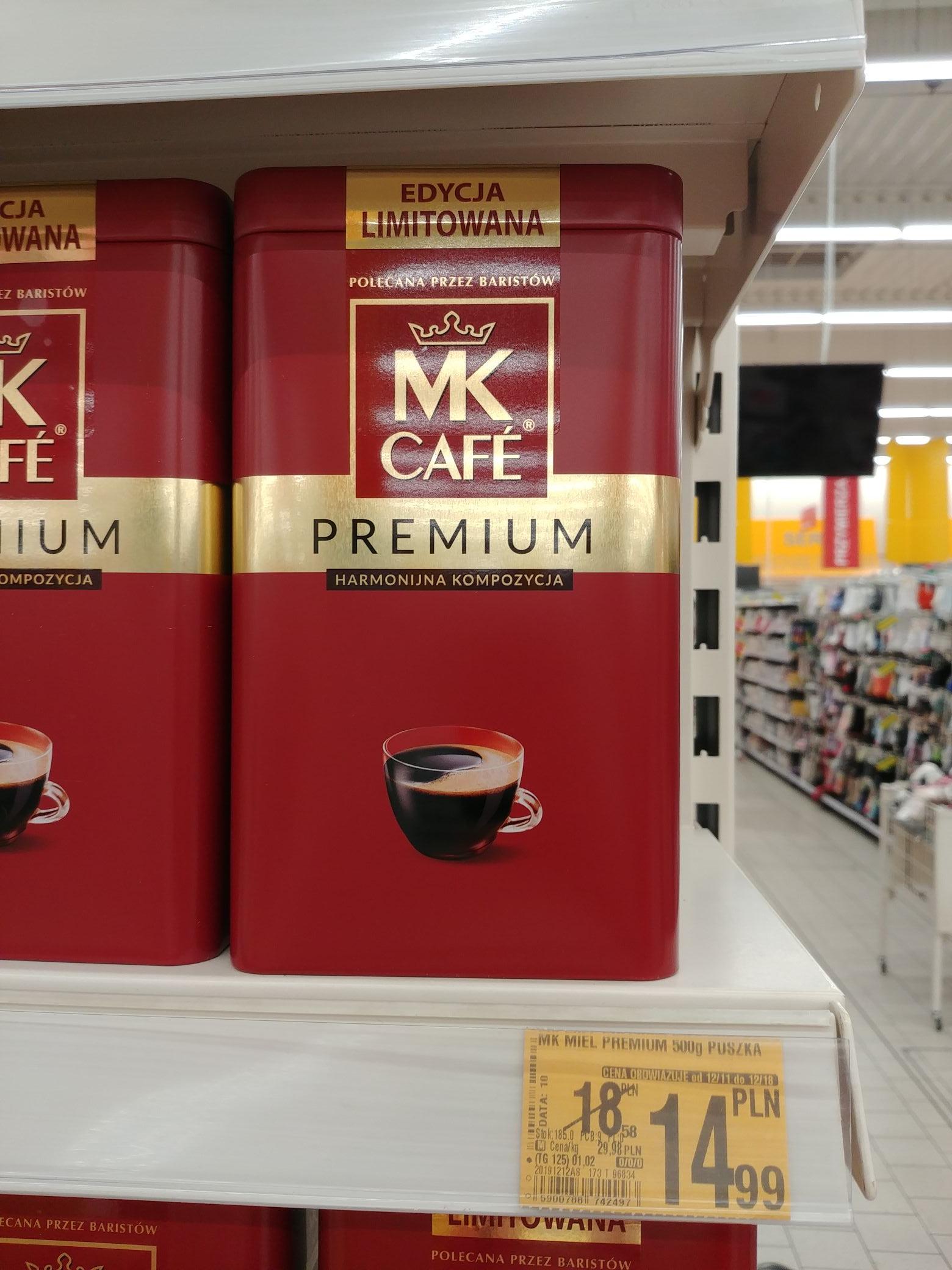 Kawa MK Cafe premium mielona 500g -metalowa puszka @Auchan