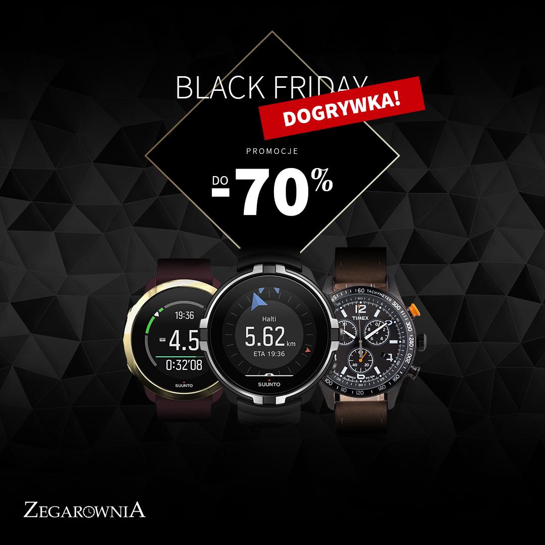 Zegarki do -70% w Black Friday Dogrywka