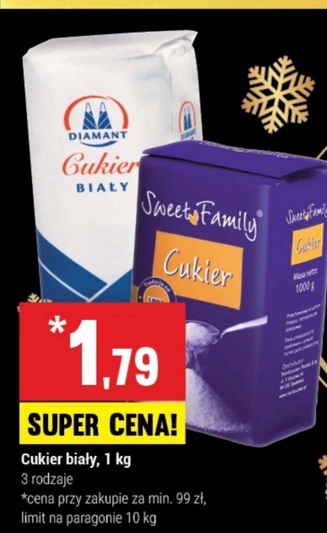 Cukier biały 3 rodzaje 1kg (twój market)