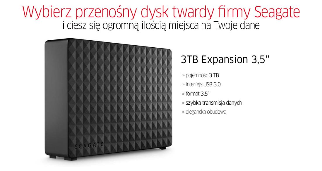 "Seagate 3TB Expansion 3.5"" zew. USB 3.0 za 339,00 pln"