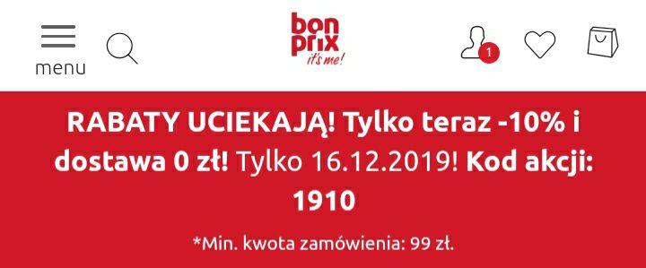 Bonprix zniżka-10% tylko dzisiaj