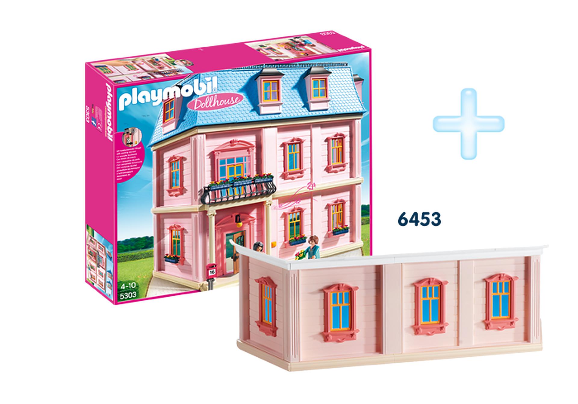 """Playmobil pakiet """"Domek dla lalek"""" + dodatkowe piętro"""