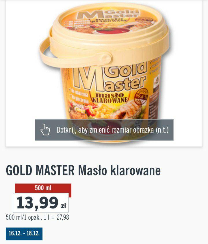 Masło klarowane Gold Master - Lidl