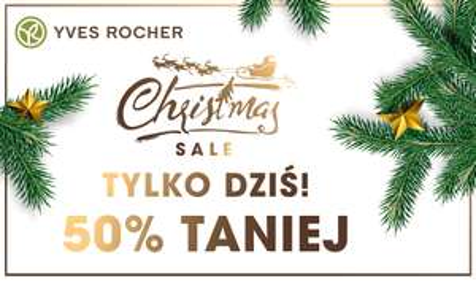 Yves Rocher: Świąteczne zakupy z rabatem -50%