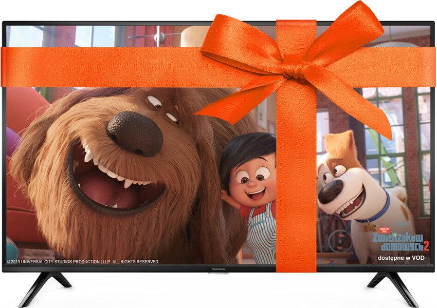 """Orange Love Telewizor Thomson 32"""" za 1 zł lub 10 zł rabatu / miesiąc oraz pakiet 13 kanałów od NC+ za darmo przez rok."""