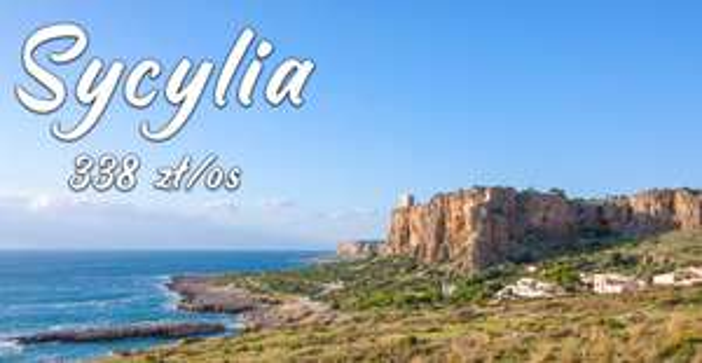 Kilka dni na Sycylii, lot, auto z ubezp., zakwaterowanie ze śniadaniami - 4 osoby 1352 zł - 338 zł/os