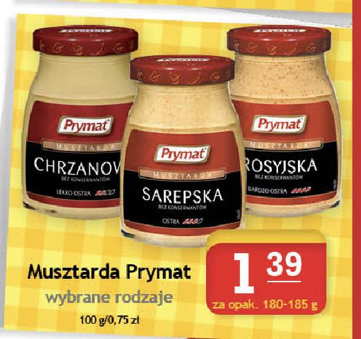 Musztarda Prymat (wybrane rodzaje) 180-185g - Gram Market