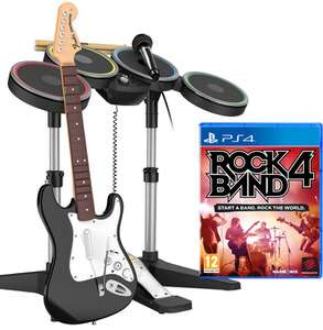 Zestaw Band-In-A-Box: Rock Band 4 + gitara + perkusja + mikrofon (PS4) @ Zavvi
