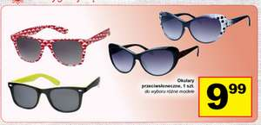 Okulary przeciwsłoneczne za 9,99zł @ Żabka