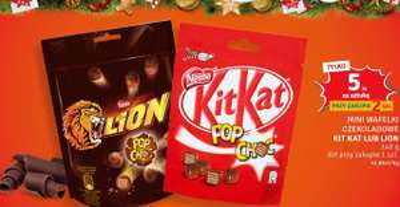 2x Lion / Kit Kat Pop Choc - mini wafelki 140g @Dealz (5 zł za sztukę przy zakupie 2)