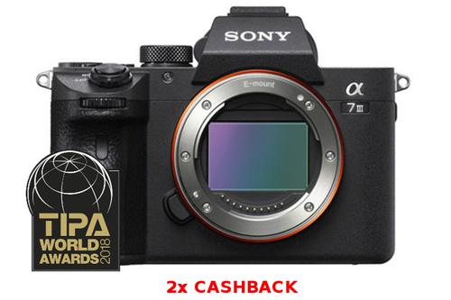 Podwójny cashback Sony. M.in Sony A7 III + 1400zł zwrotu