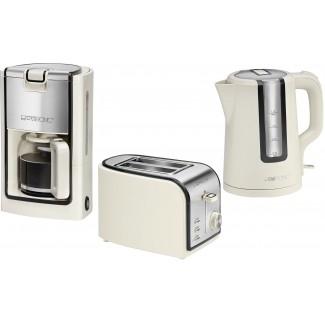 Czajnik + toster + ekspres do kawy za 256zł (przecena z 320zł) + darmowa dostawa @ Clatronic