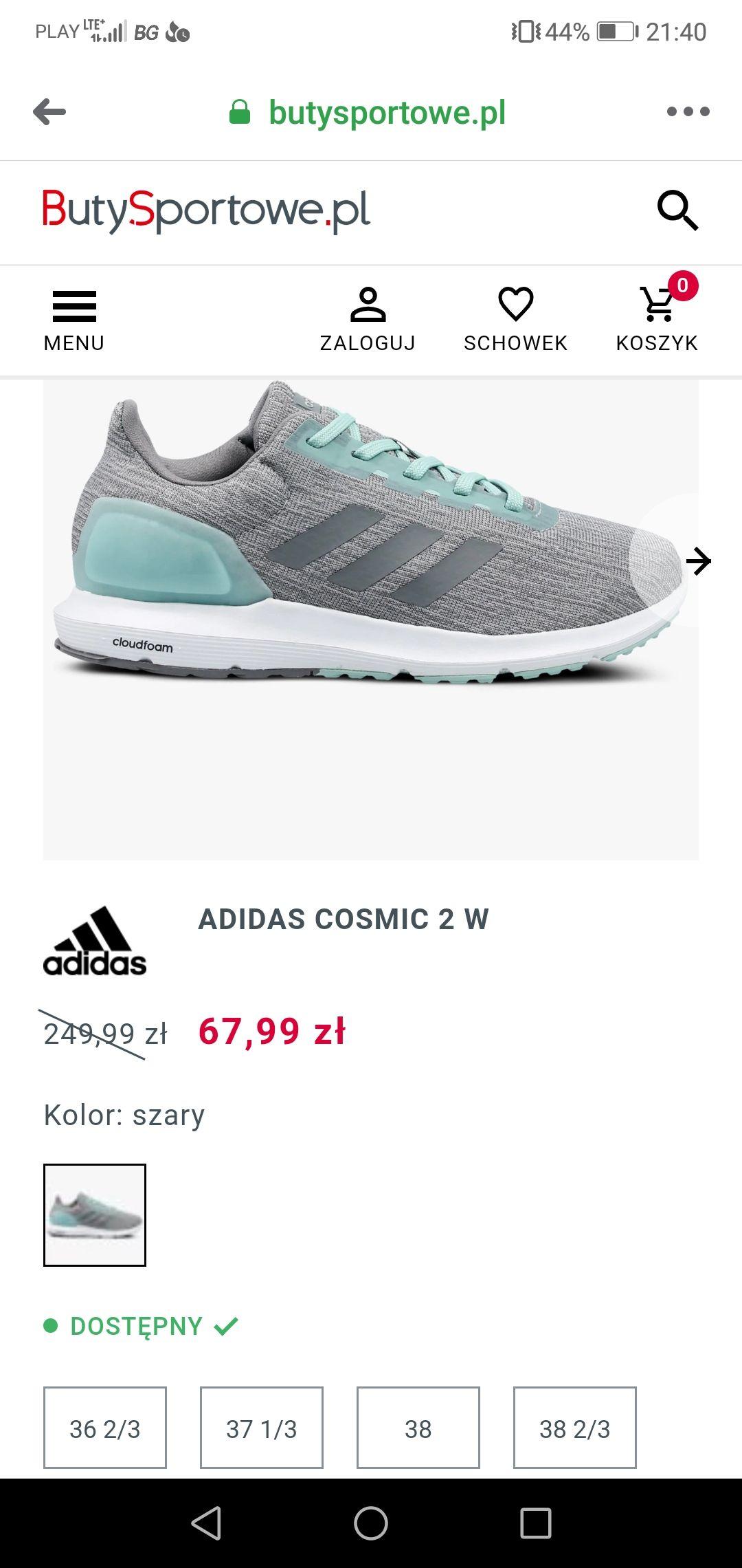 Buty damskie Adidas Cosmic 2 W