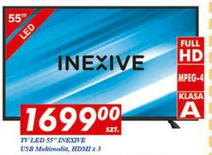 Telewizor 55 cali Full HD w Auchan za 1699 zł