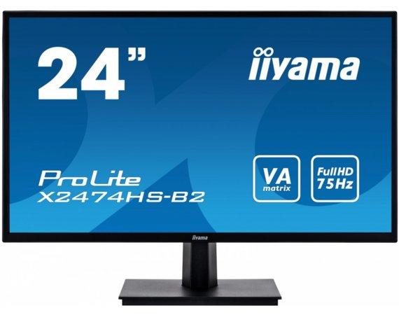 Monitor IIYAMA Monitor 24 X2474HS-B2 VA,HDMI,DP,głośniki