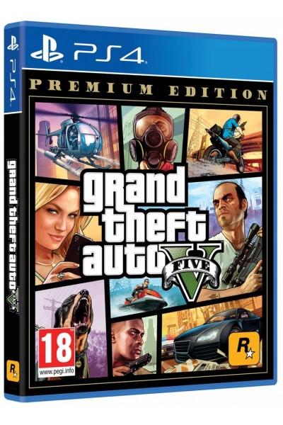 Grand Theft Auto V Premium Edition PL + nakładki na analogi ps4