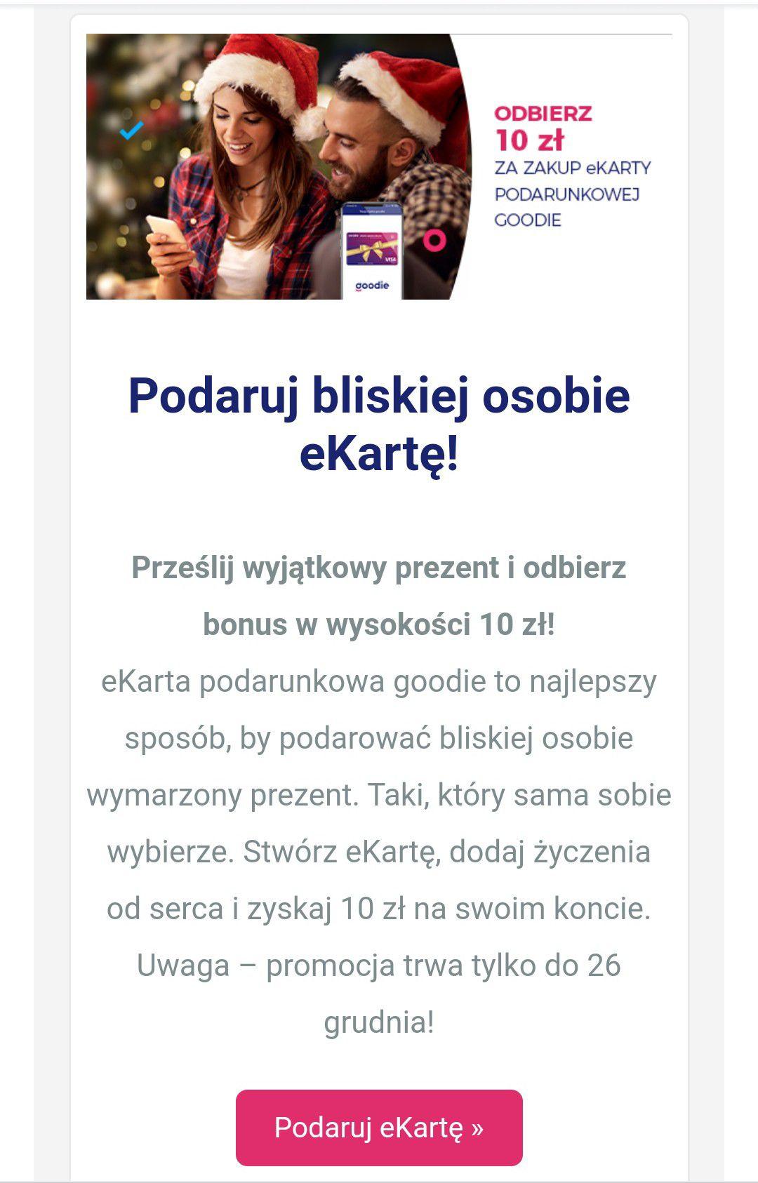 Goodie - cashback 10 zł za ekartę