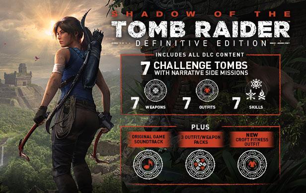 Shadow of the Tomb Raider: Definitive Edition kod STEAM (wszystkie DLC) $21.60 możliwe $16.60 (czyli ~64,12 zł)