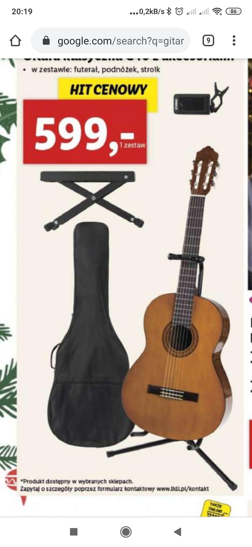 lidl gitara yamaha c40 + akcesoria obnizka