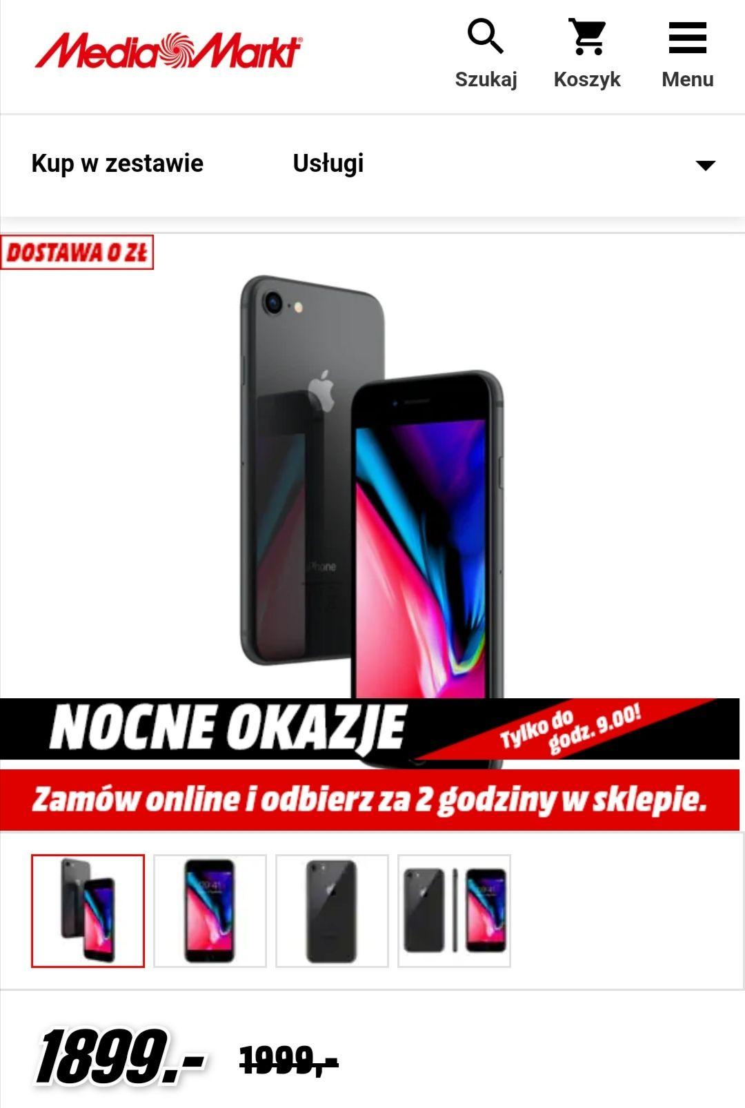 Smartfon APPLE iPhone 8 64GB Gwiezdna szarość