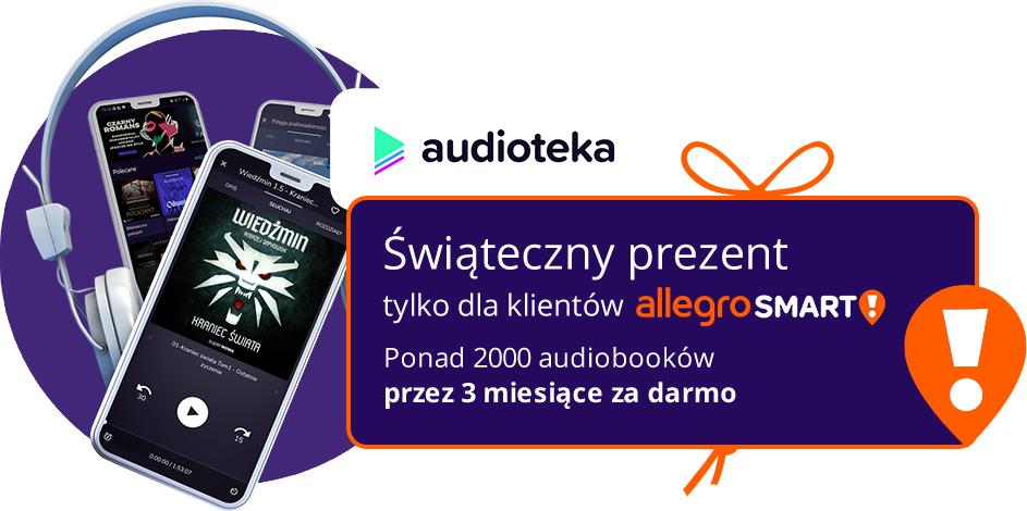 Allegro SMART - dostęp do 2 tysięcy audiobooków za darmo przez 3 miesiące