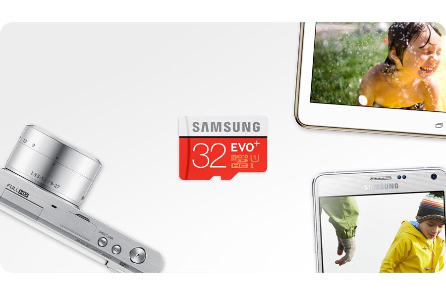 Samsung 32GB microSDHC Evo+ zapis 20MB/s odczyt 80MB/s za 44PLN @ x-kom