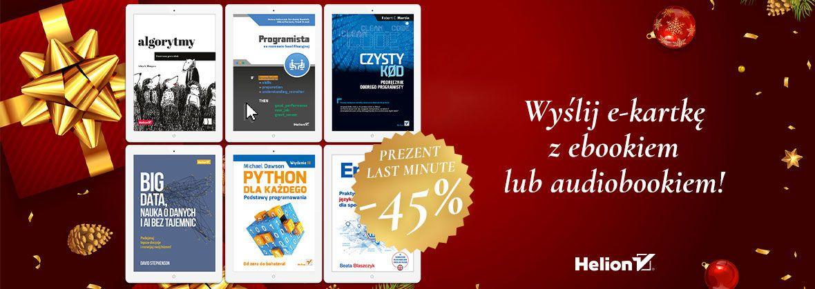 Helion -45% na wybrane ebooki i audiobooki