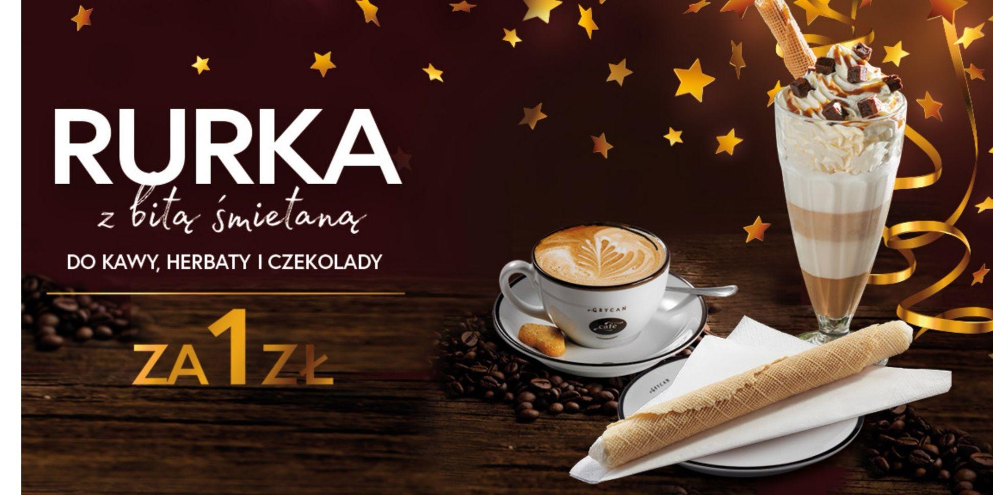 Rurka z bitą Śmietaną do kawy, herbaty i czekolady za 1PLN