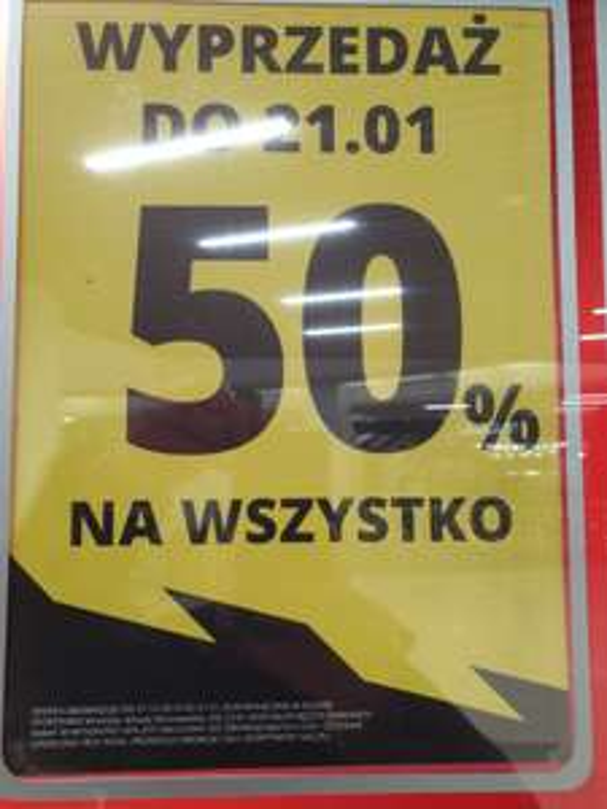 -50 % na wszystko również przecenę likwidacja Sportisimo Wrocław arkady