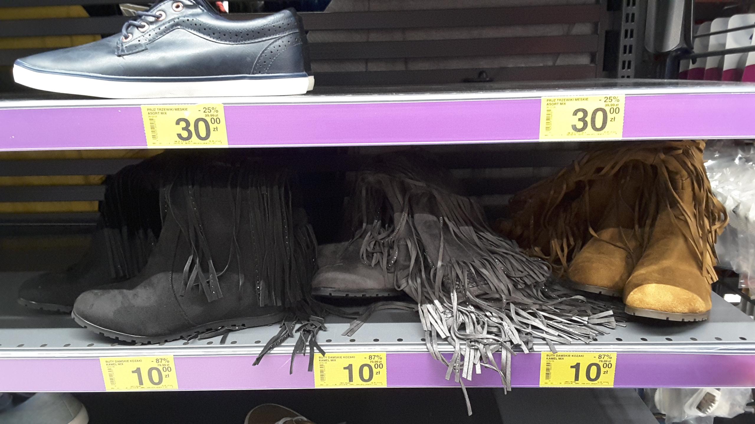 Buty damskie, kozaki, Carrefour