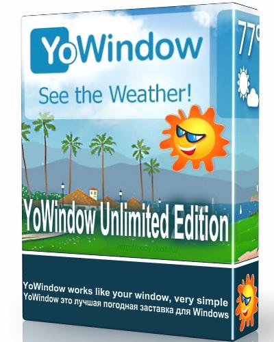 YoWindow Unlimited Edition PL (Win & Mac) - Jedna z lepszych i dokładniejszych animowanych prognoz pogody.