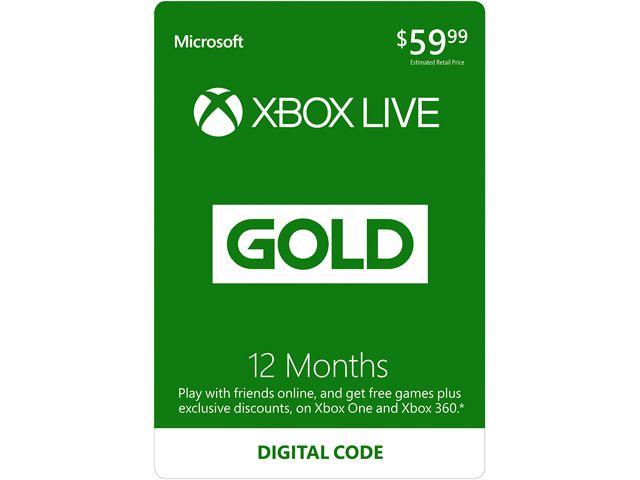 12 miesięcy abonamentu Xbox Live Gold (kod) za 126,5zł @ Newegg