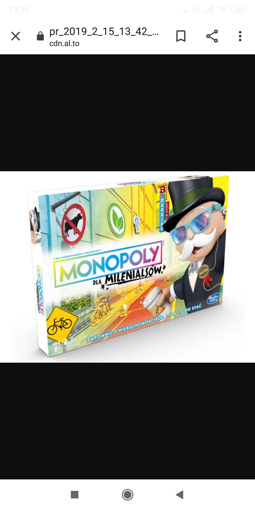 Monopoly wersja Milenialsi